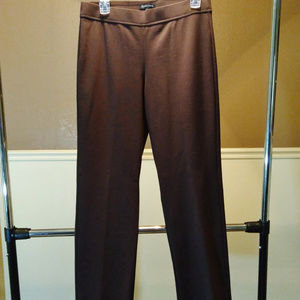Eileen Fisher S brown stretch casual slacks pants